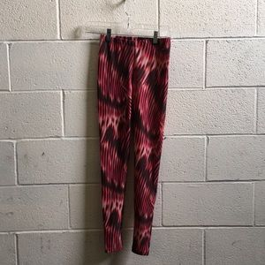 track & field Pants - Track & field pink & black leggings sz s 57530